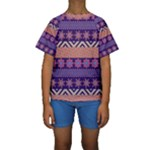 Colorful Tribal Pattern Kids  Short Sleeve Swimwear
