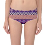 Colorful Tribal Pattern Mid-Waist Bikini Bottoms