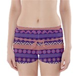 Colorful Tribal Pattern Boyleg Bikini Wrap Bottoms