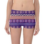 Colorful Tribal Pattern Reversible Boyleg Bikini Bottoms
