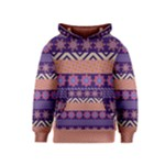 Colorful Winter Pattern Kids  Pullover Hoodie