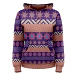 Colorful Winter Pattern Women s Pullover Hoodie