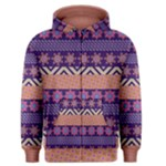 Colorful Winter Pattern Men s Zipper Hoodie