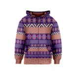 Colorful Winter Pattern Kids  Zipper Hoodie