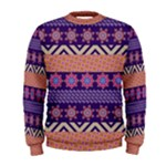 Colorful Winter Pattern Men s Sweatshirt