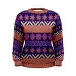 Colorful Winter Pattern Women s Sweatshirt