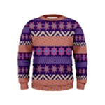 Colorful Winter Pattern Kids  Sweatshirt