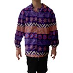 Colorful Winter Pattern Hooded Wind Breaker (Kids)
