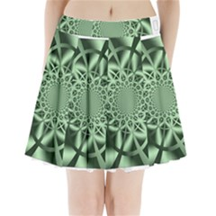 Wave Pattern Pleated Mini Skirt by Zeze