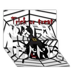 Halloween Cute Spider Work Hard 3d Greeting Card (7x5) by Valentinaart
