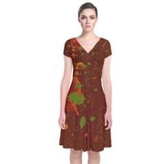 Autumn 01 Short Sleeve Front Wrap Dress by MoreColorsinLife