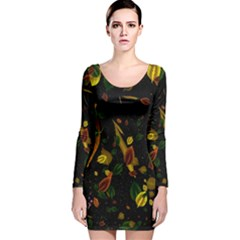 Autumn 03 Long Sleeve Velvet Bodycon Dress by MoreColorsinLife