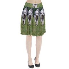 Bearded Collie In Motion Pleated Skirt
