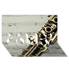 Clarinet Musical Instrument Woodwind SORRY 3D Greeting Card (8x4) by Zeze