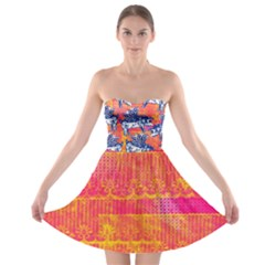 Little Flying Pigs Strapless Bra Top Dress by DanaeStudio