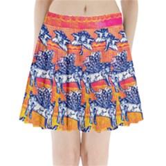 Little Flying Pigs Pleated Mini Skirt by DanaeStudio