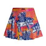 Little flying pigs Mini Flare Skirt