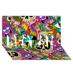 Sick Pattern Best Sis 3d Greeting Card (8x4) by AnjaniArt