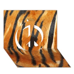 Tiger Peace Sign 3d Greeting Card (7x5) by AnjaniArt