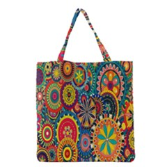 Tumblr Static Colorful Grocery Tote Bag by AnjaniArt
