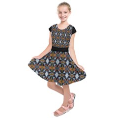 Stones Pattern Kids  Short Sleeve Dress by Costasonlineshop