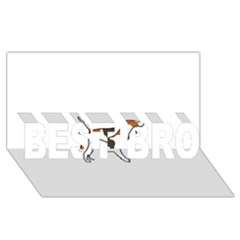Treeing Walker Coonhound Silo Color BEST BRO 3D Greeting Card (8x4) by TailWags