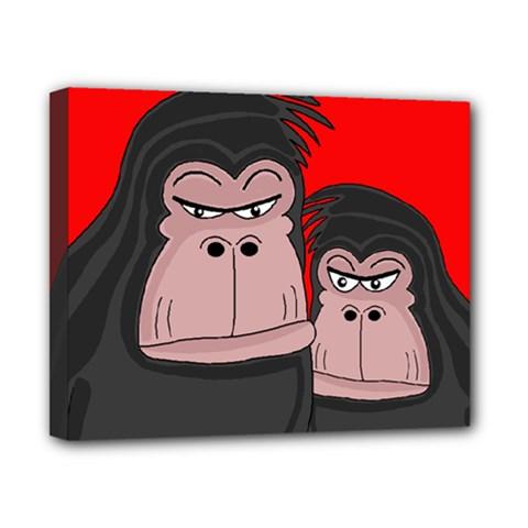 Gorillas Canvas 10  X 8  by Valentinaart