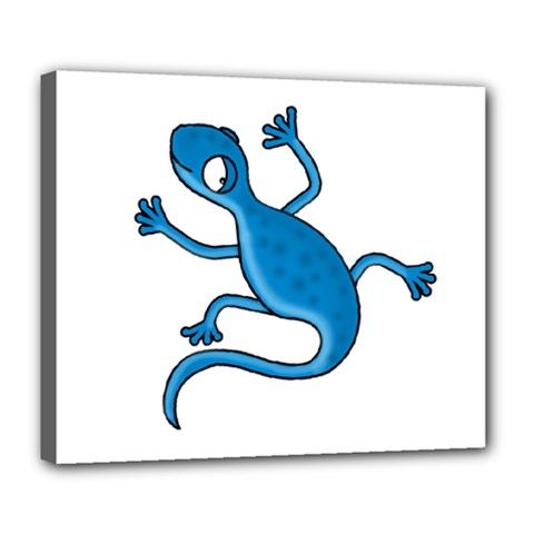 Blue Lizard Deluxe Canvas 24  X 20   by Valentinaart