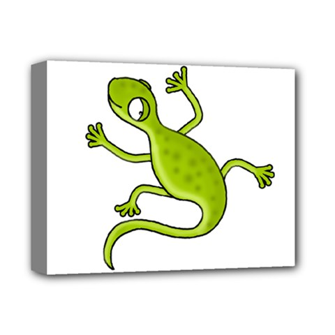 Green Lizard Deluxe Canvas 14  X 11  by Valentinaart