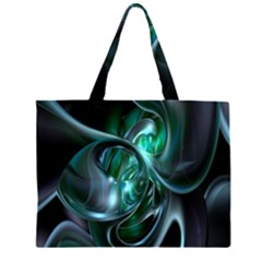 Ws Blue Green Float Large Tote Bag by AnjaniArt