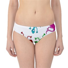 Colorful lizards Hipster Bikini Bottoms