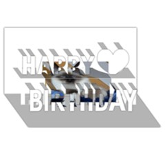 Birman second Happy Birthday 3D Greeting Card (8x4) by TailWags