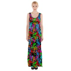 Lizard Pattern Maxi Thigh Split Dress by Valentinaart