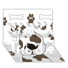 Cute Dog You Rock 3d Greeting Card (7x5) by Valentinaart