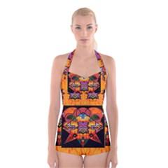 Clothing (20)6k,kk Boyleg Halter Swimsuit  by MRTACPANS