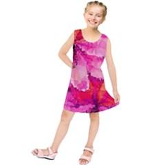 Geometric Magenta Garden Kids  Tunic Dress by DanaeStudio