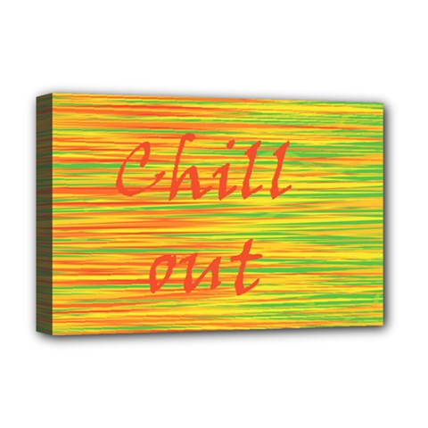 Chill Out Deluxe Canvas 18  X 12   by Valentinaart