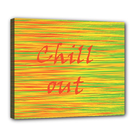 Chill Out Deluxe Canvas 24  X 20   by Valentinaart