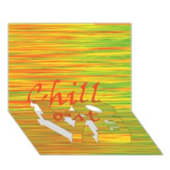 Chill Out Love Bottom 3d Greeting Card (7x5) by Valentinaart