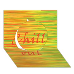 Chill Out Circle 3d Greeting Card (7x5) by Valentinaart