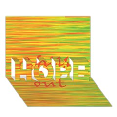 Chill Out Hope 3d Greeting Card (7x5) by Valentinaart