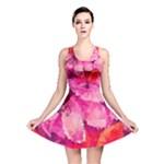 Geometric Magenta Garden Reversible Skater Dress