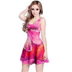 Geometric Magenta Garden Reversible Sleeveless Dress by DanaeStudio