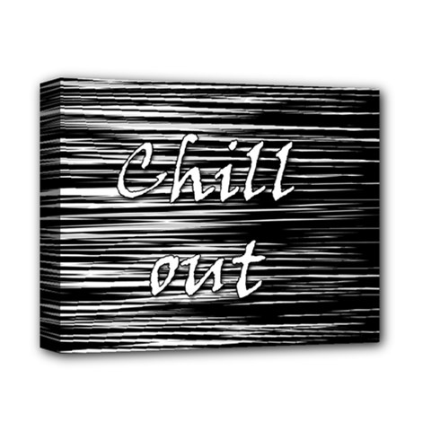 Black An White  chill Out  Deluxe Canvas 14  X 11  by Valentinaart