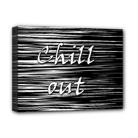 Black An White  chill Out  Deluxe Canvas 16  X 12   by Valentinaart