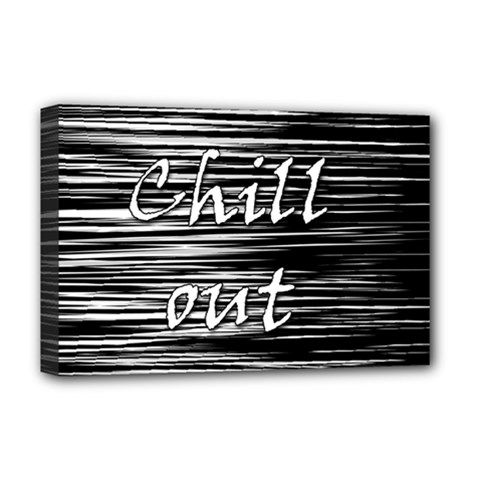 Black An White  chill Out  Deluxe Canvas 18  X 12   by Valentinaart