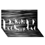 Black an white  Chill out  MOM 3D Greeting Card (8x4)