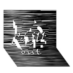 Black An White  chill Out  Love 3d Greeting Card (7x5) by Valentinaart
