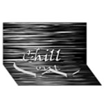 Black an white  Chill out  Twin Heart Bottom 3D Greeting Card (8x4)