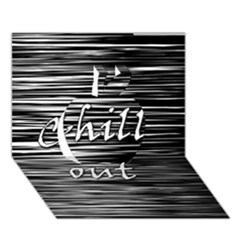 Black An White  chill Out  Apple 3d Greeting Card (7x5) by Valentinaart